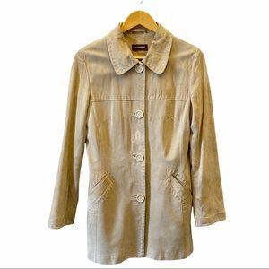 Danier Tan Suede Button Front Jacket Size Small